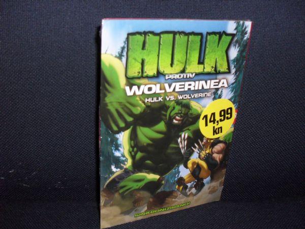 DVD HULK PROTIV WOLVERINEA -  dvostruki, glanc