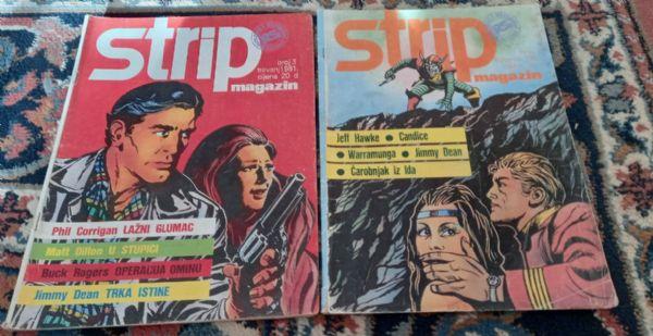 Strip Magazin brojevi 3,7 Jeff Hawke,Jimmy Dean
