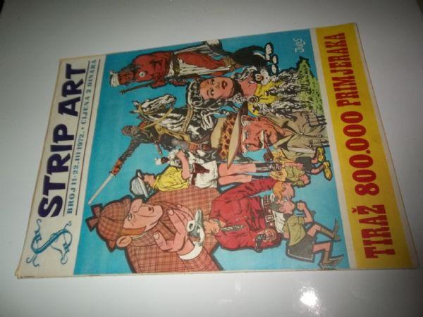 STRIP ART BROJ 11  prvo izdanje iz 1972 godine, veliki format