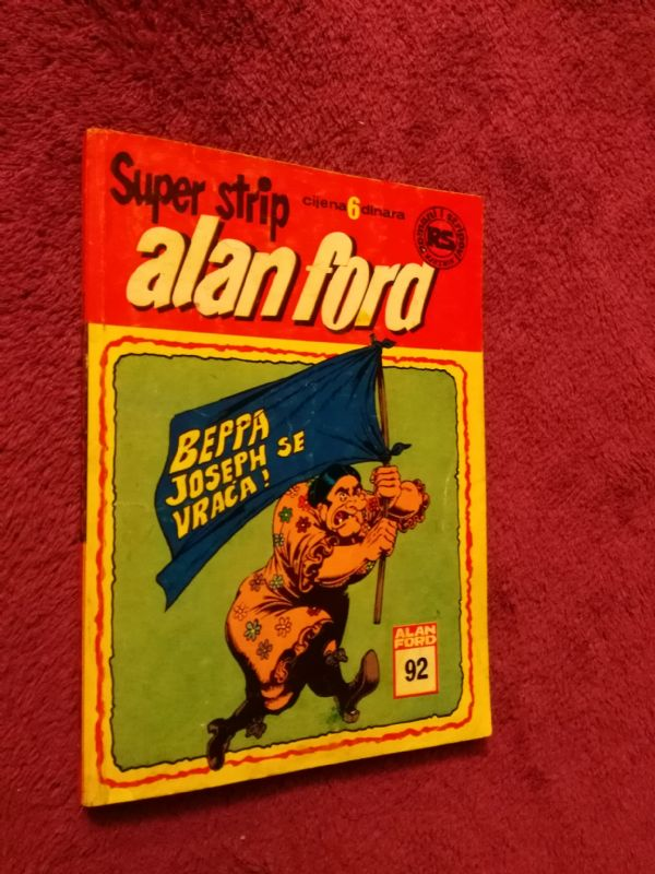 ALAN FORD Superstrip br. 92 Beppa Joseph se vraća! (4+)