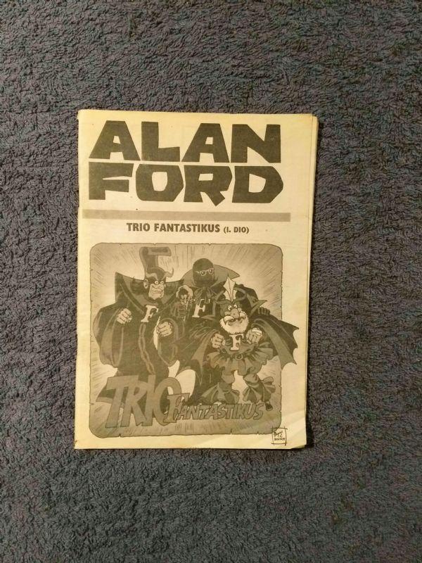 Alan Ford Prilog Večernjeg lista - Trio fantastikus I.dio (4+)