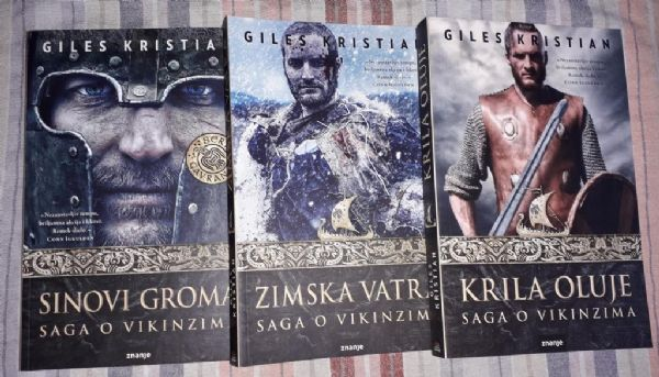 Giles Kristian - Saga o vikinzima, lot 3 knjige (P)