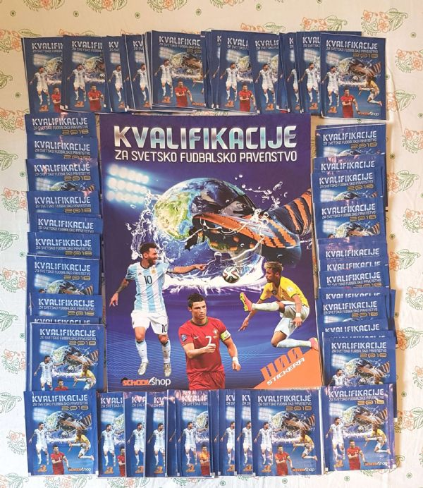 Kvalifikacije za svetsko fudbalsko prvenstvo-prazan album + lot sličica