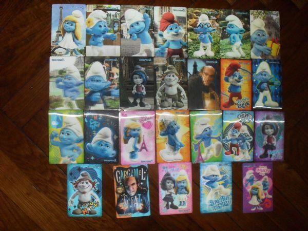 ŠTRUMPFOVI 2 3D kompletan set kartica 1 -26 (+5)