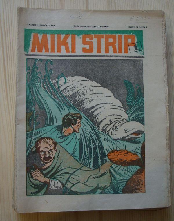 MIKI STRIP 1-38, KOMPLET, VJESNIK (1954)