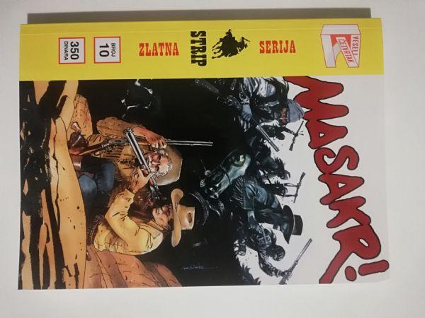 Zlatna serija 10 KORICA B (RETRO) - Tex - Masakr! (Veseli četvrtak)