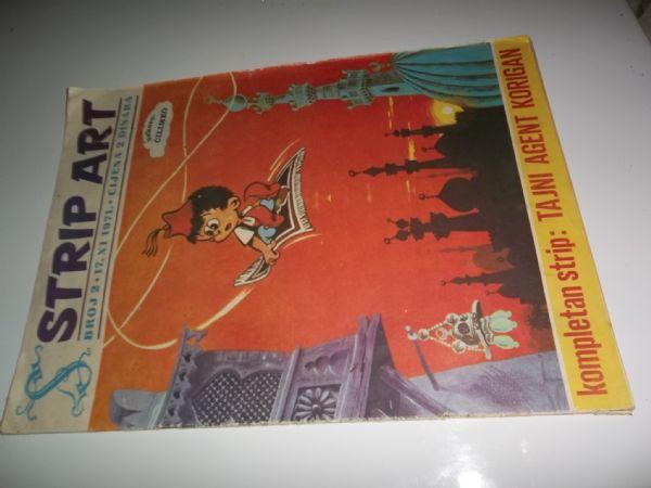 STRIP ART BROJ 2 prvo izdanje iz 1971 godine, veliki format