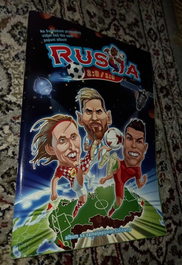 Rusija 2:0/1:0 popunjen album