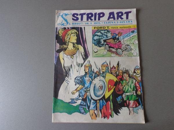 STRIP ART Br 7 VELIKI FORMAT DŽO PALUKA  PRINC VALIJANT  1971 GOD. ( 4+ )