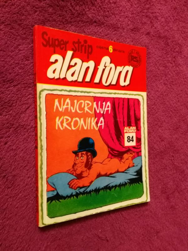 ALAN FORD Superstrip br. 84 Najcrnja kronika (5-)