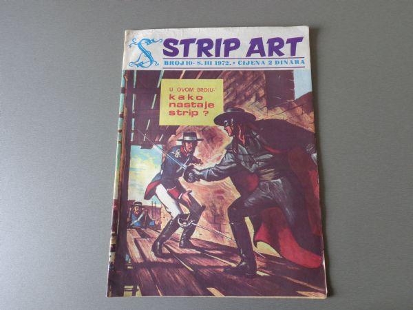 STRIP ART Br 10 VELIKI FORMAT CISKO KID  PRINC VALIJANT  1972 GOD.  ( 4+ )