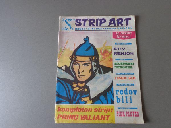 STRIP ART Br 1  VELIKI FORMAT CISKO KID PRINC VALIJANT 1971 GOD. ( 4 / 4+ )