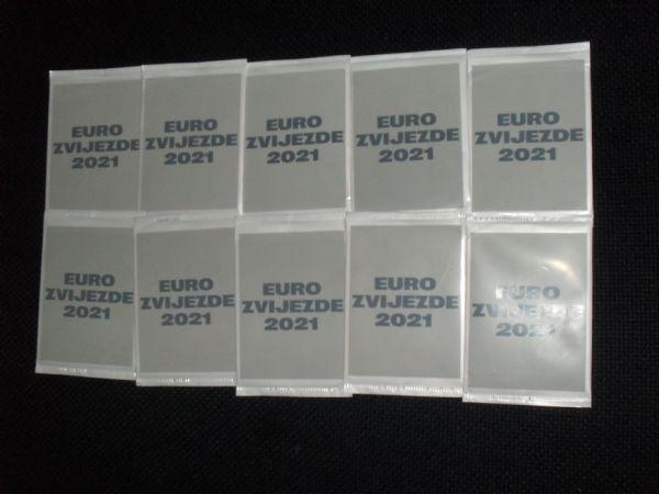 EURO ZVIJEZDE 2021 kartice u omotu glanc 10 kom.