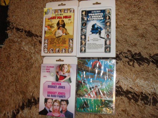 DVD X 2 AGATHA CHRISTIE (SMRT NA NILU I ZLO POD SUNCEM) GLANC