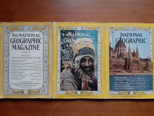 LOT National Geographic 3 komada - jako stari brojevi