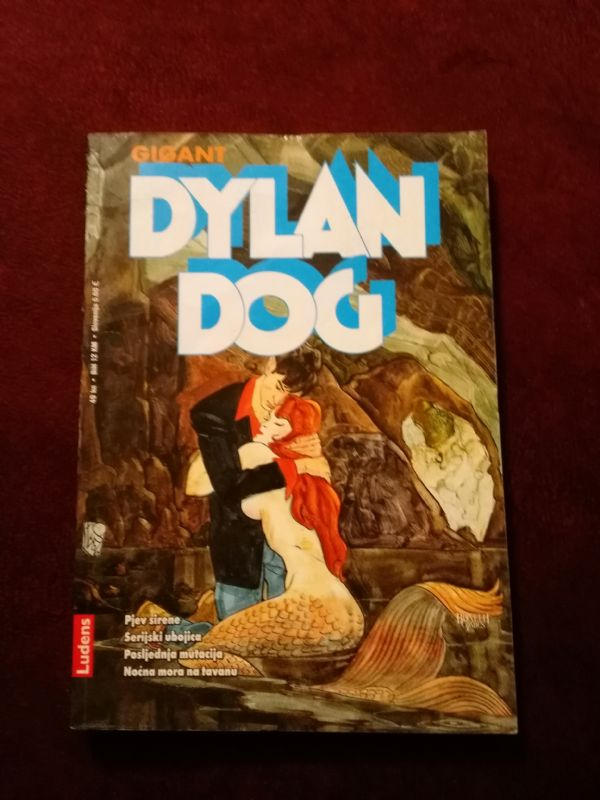 Dylan Dog Ludens Gigant br. 9 - Pjev sirene - Serijski ubojica - Posljednja mutacija - Noć