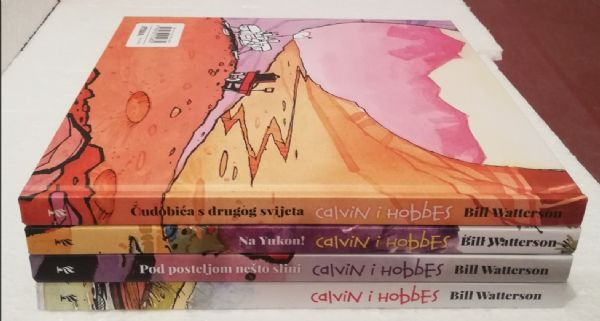 KOMPLET : Calvin i Hobbes . - Fibra (1 - 4)
