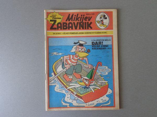 MIKIJEV ZABAVNIK Br 168 1977 GOD.  ( - 5 / 5 )