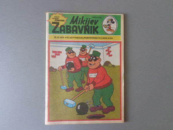 MIKIJEV ZABAVNIK Br 219  1978 GOD.  ( - 5 )
