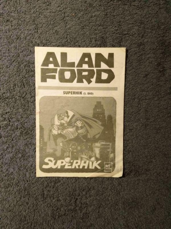 Alan Ford Prilog Večernjeg lista - Superhik I.dio (4+)