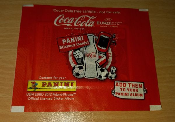 Euro 2012 Coca Cola ne otvoren paketić