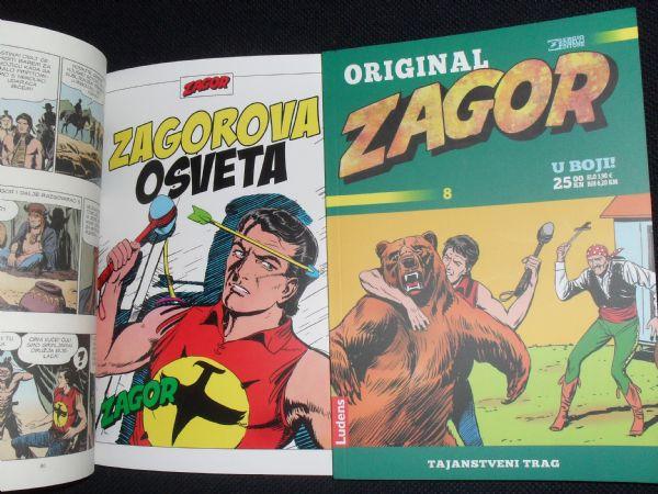 ZAGOR ORIGINAL u boji br. 8 - tajanstveni trag (+5/glanc)