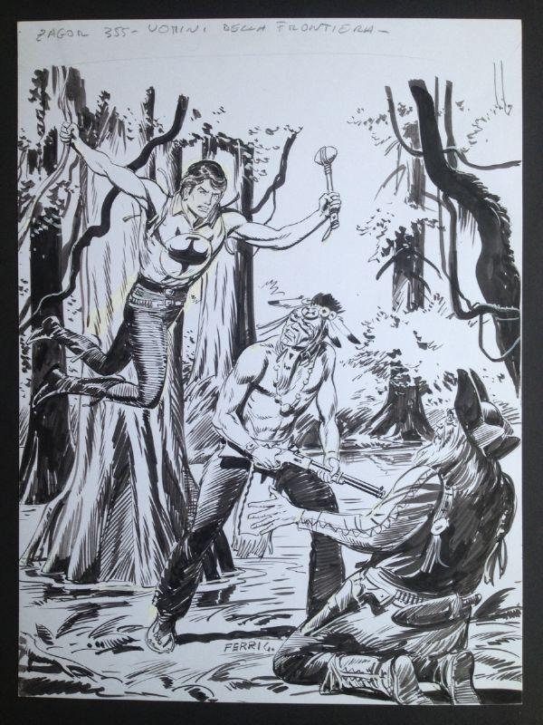 Gallieno Ferri -Originalna Zagor naslovnica