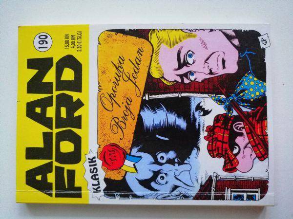Alan Ford klasik 190 - Oporuka Broja Jedan (Strip Agent)