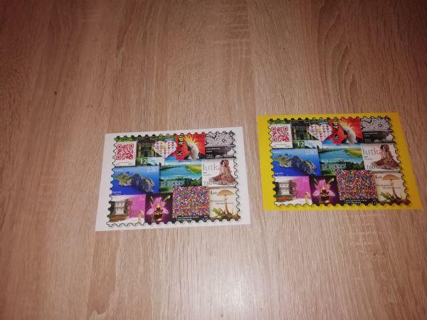 2 razglednice poštanske markice RH, prazne
