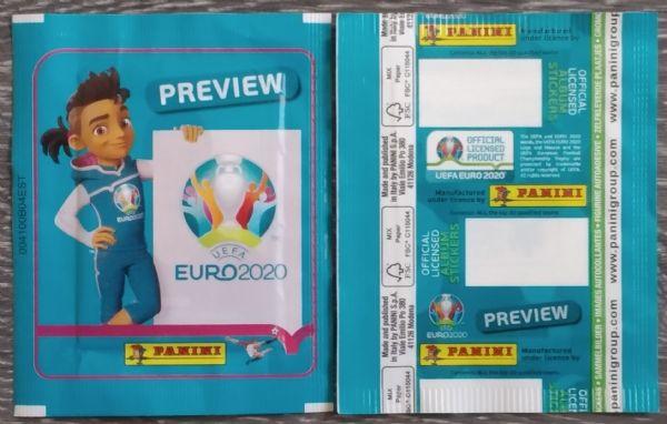 20 neotvorenih paketića EURO 2020 preview PANINI