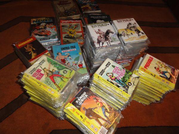 667 stripova i strip albuma:ZS Zagori 454-1101, Stripoteka 1-47,Plavi vjesnik 1-42,itd.