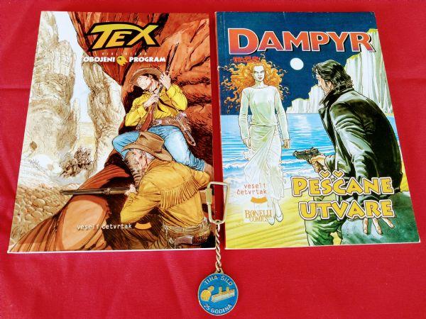 TEX WILLER (v.č)  Obojeni program br 10 (-5/5) +DAMPYR (v.č) br 3  + poklon od 1 KUNE !!!!