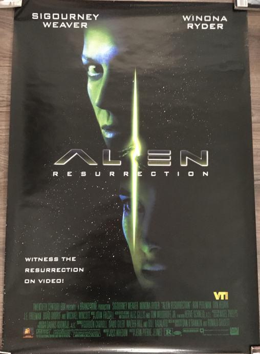 Alien resurrection - filmski plakat