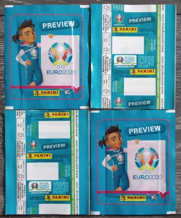 50 neotvorenih paketića EURO 2020 preview PANINI